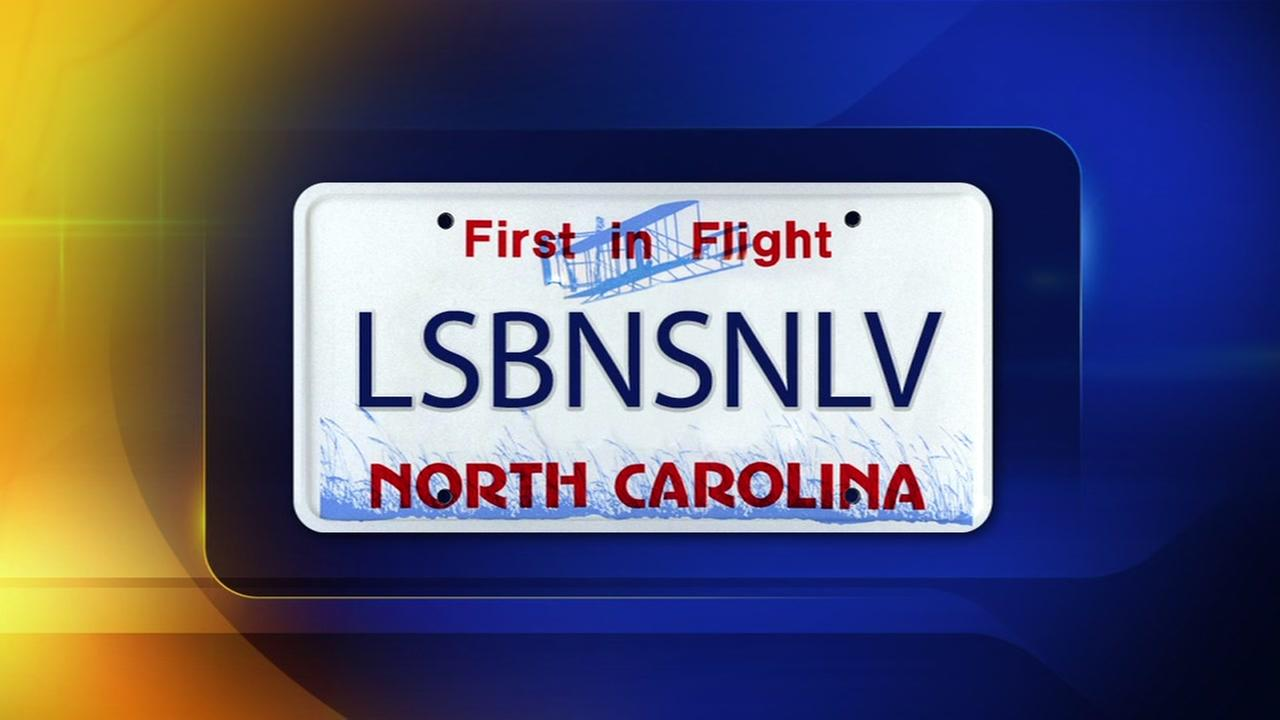 North Carolina DMV OKs license plate honoring womans wife
