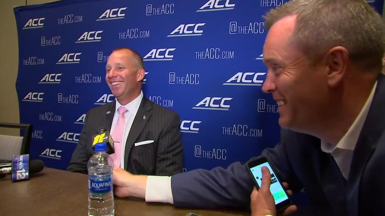ACC Coaches give Mark Armstrong some solid advice for an upcoming special event