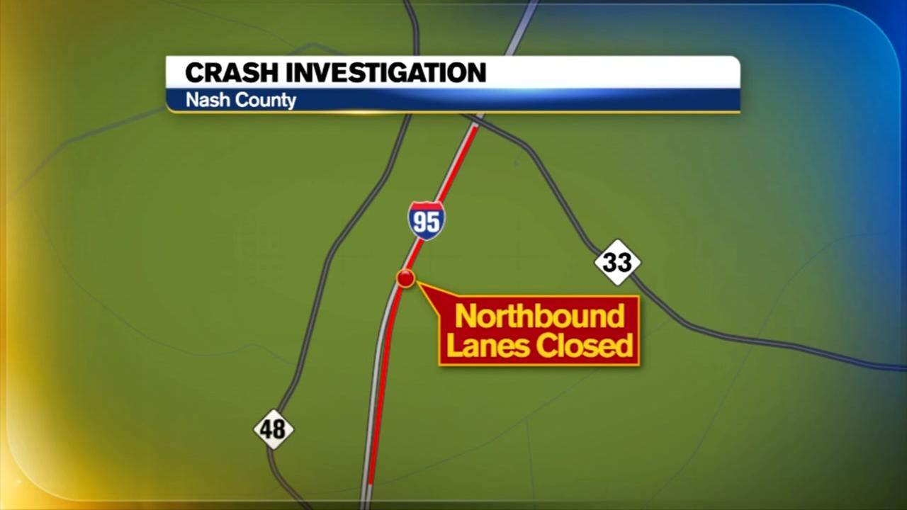 I-95 north reopens after multi-vehicle crash near Rocky Mount