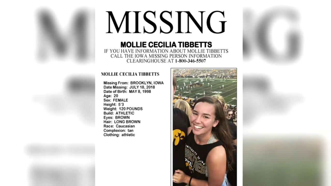 Few answers about Iowa college student who went missing