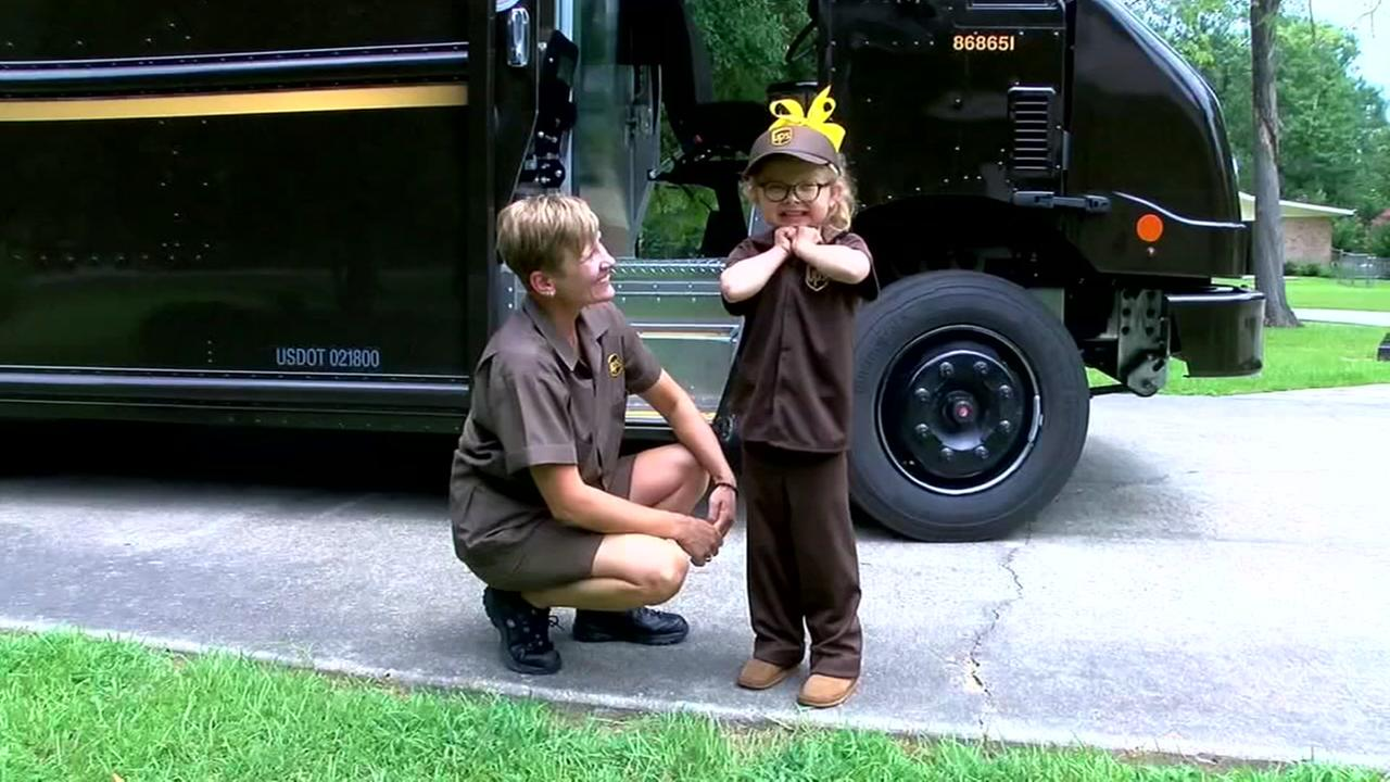 6-year-old befriends UPS driver who brought her life life-saving medications