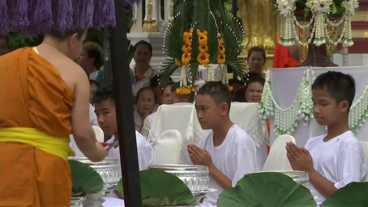 Thailands soccer boys prepare to ordain as Buddhist novices