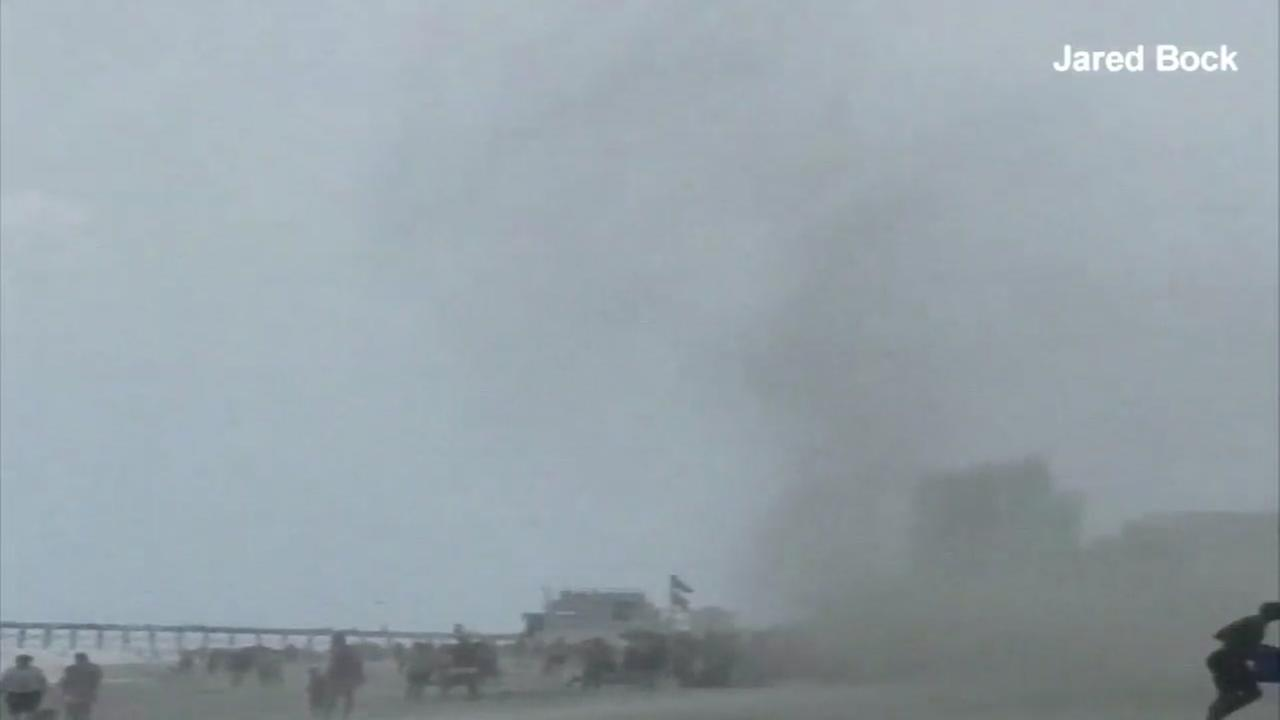 Waterspout touches down in Myrtle Beach