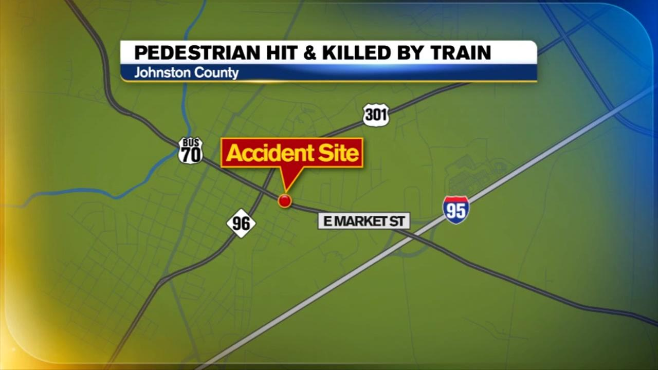 Person hit by train, killed in Johnston County