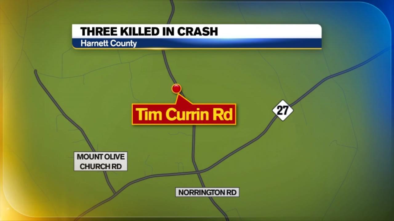 Three killed in Harnett County crash