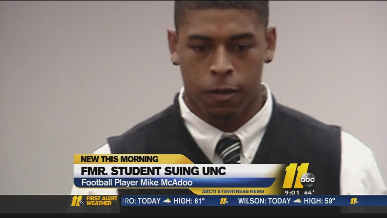 Former UNC football player suing university