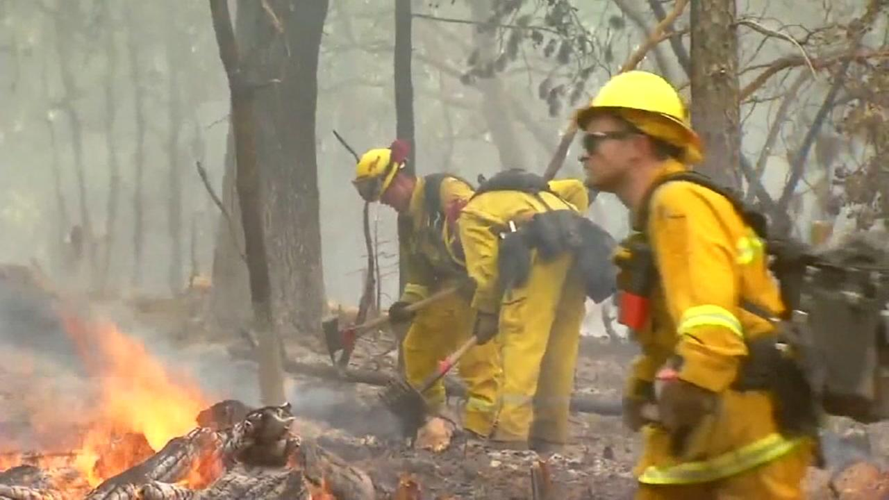 NC firefighters help in California