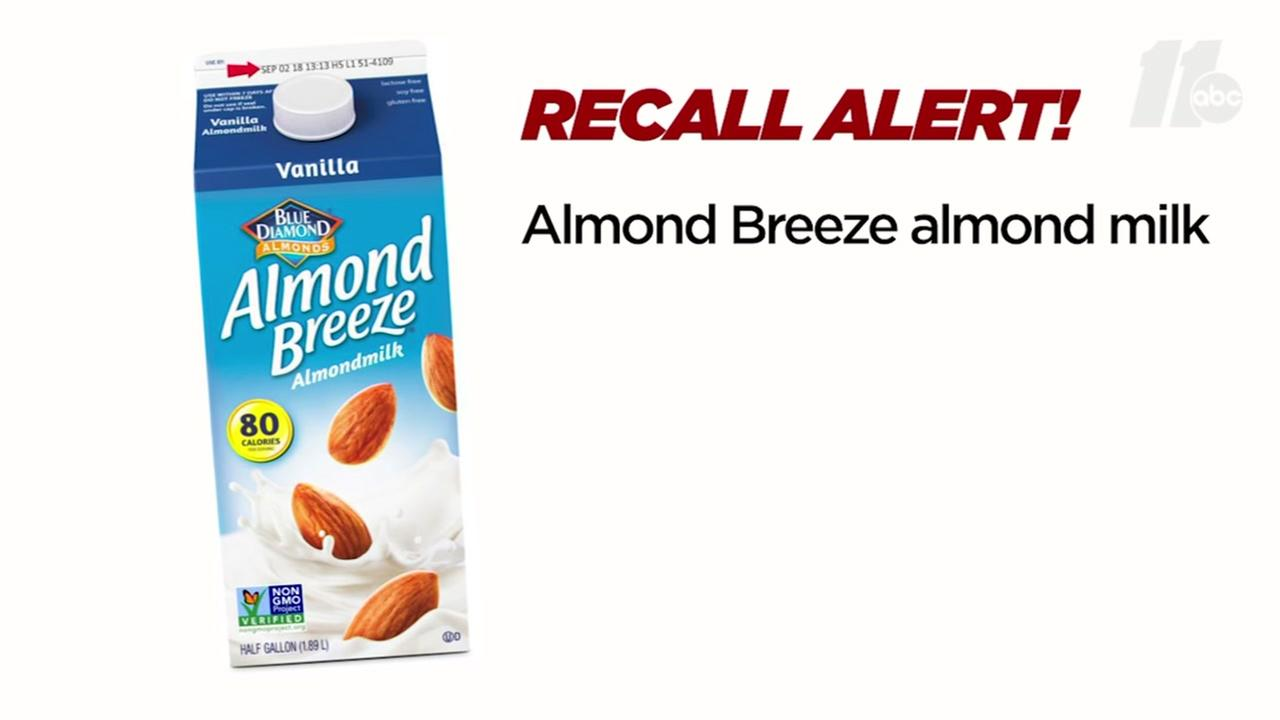Popular almond milk recalled because it could contain milk