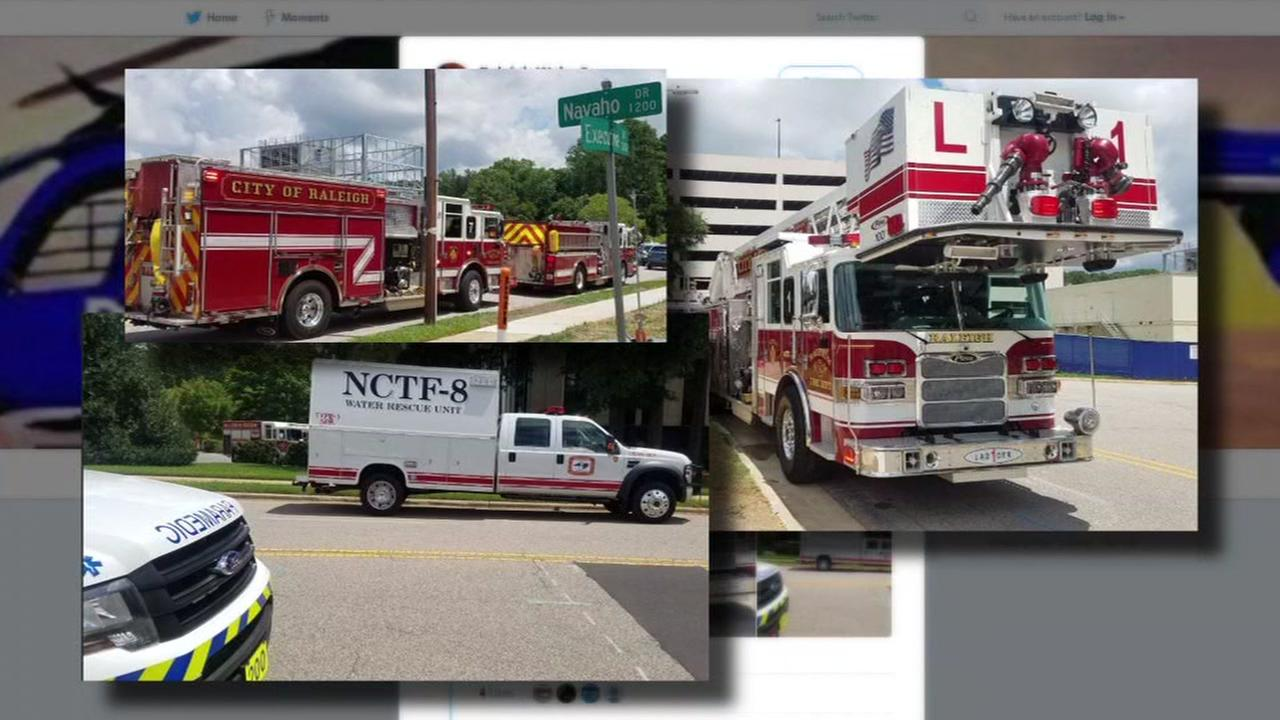 Rescue crews save Raleigh worker who fell two stories