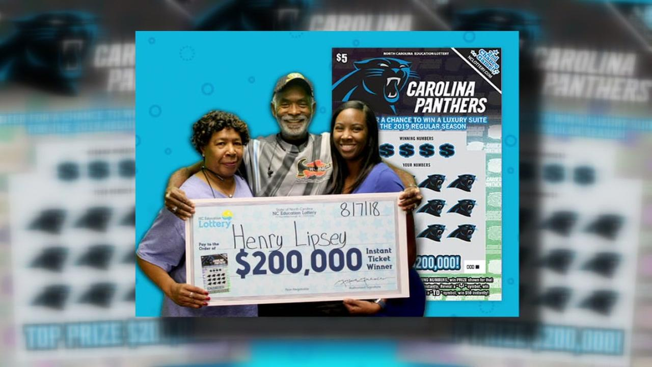 Fayetteville man wins top prize on Panthers scratch-off ticket