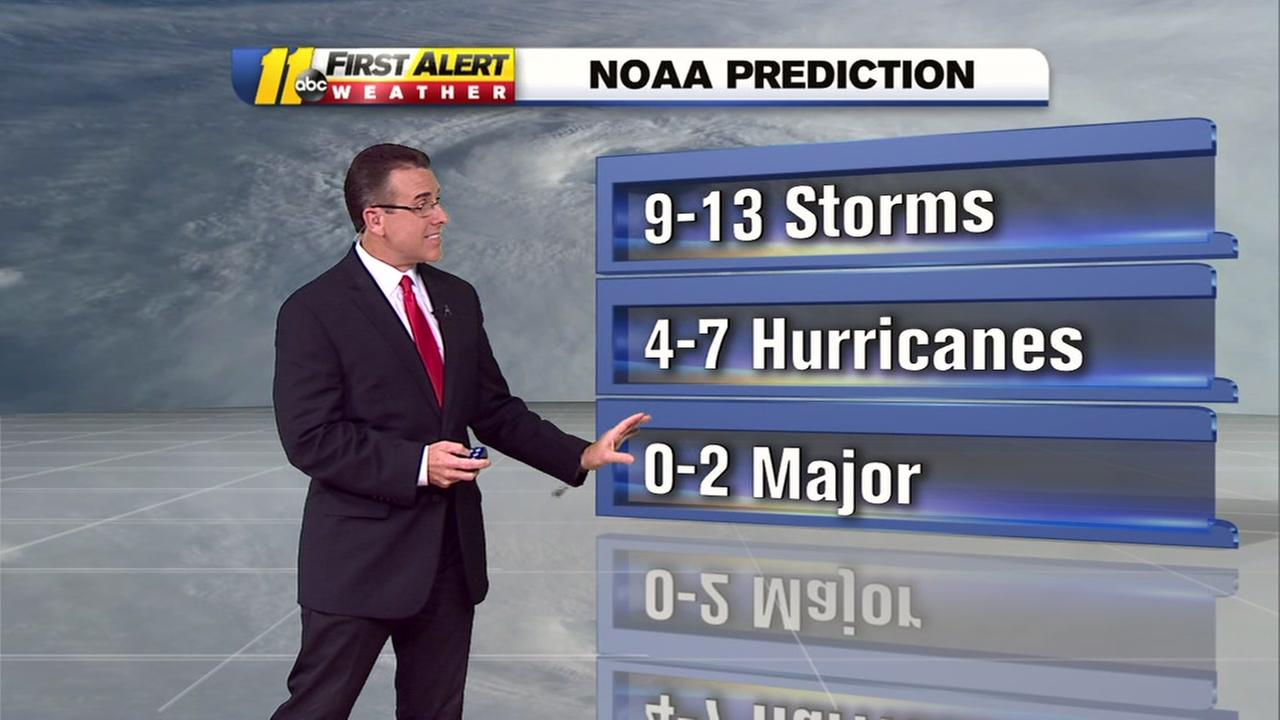 NOAA adjusts hurricane predictions