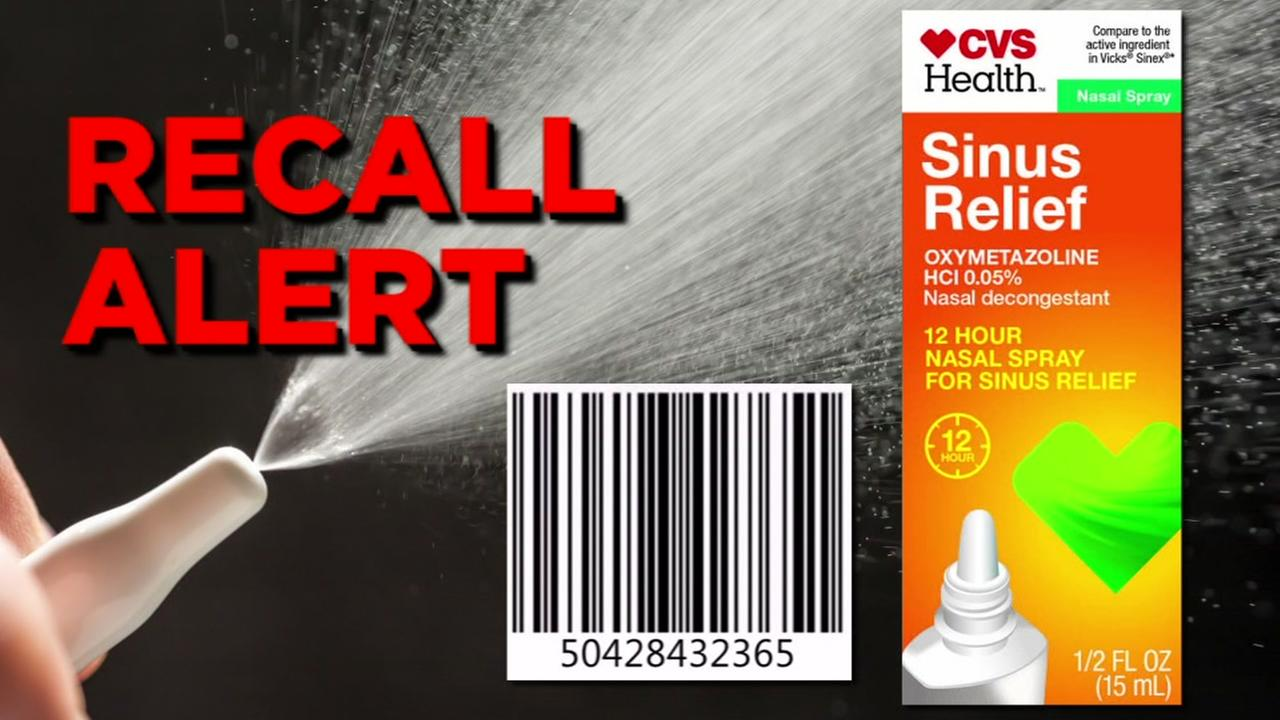 FDA has issued a recall for CVS Health Sinus Relief Nasal Mist