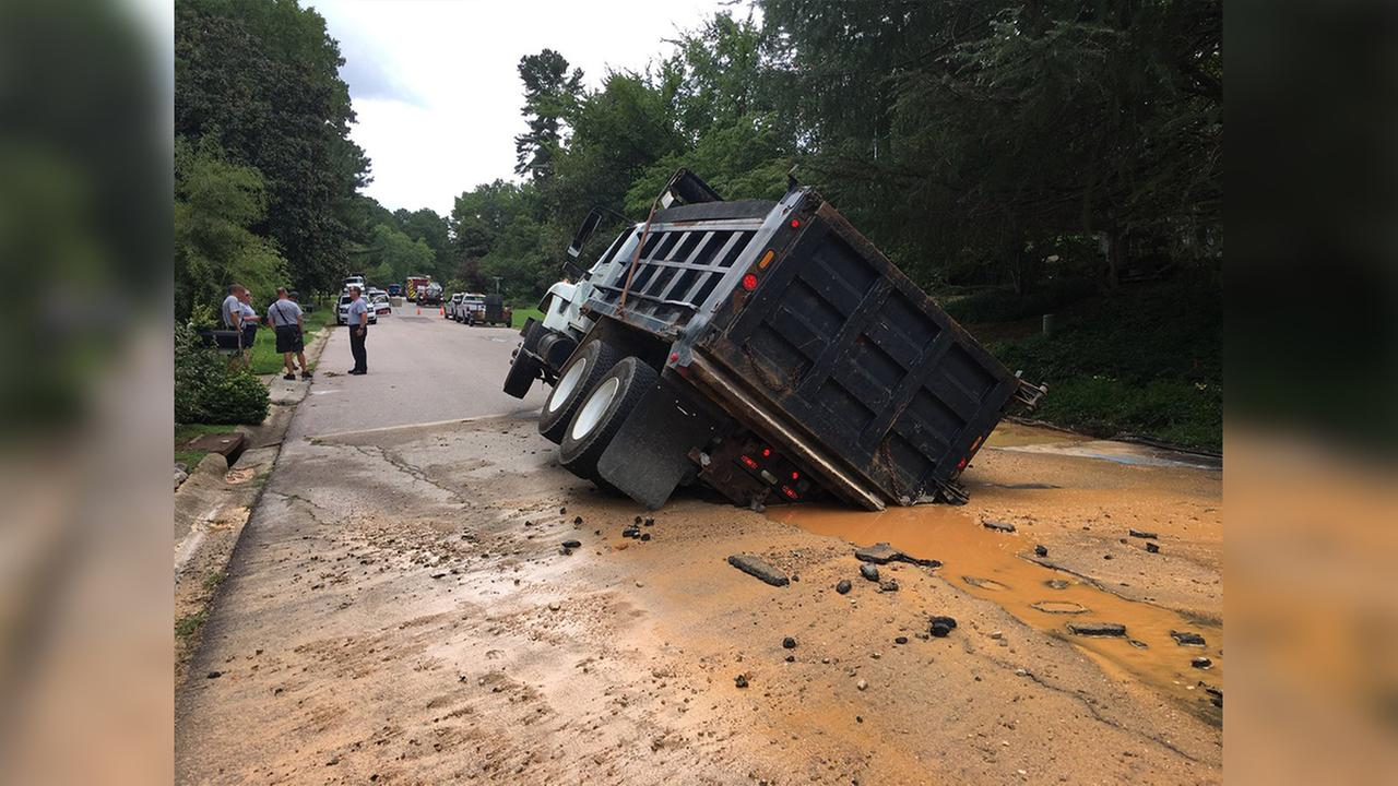 A part of Brookgreen Drive is closed between Larkhall Court and Gatehouse Drive after a water main broke in Cary on Sunday.