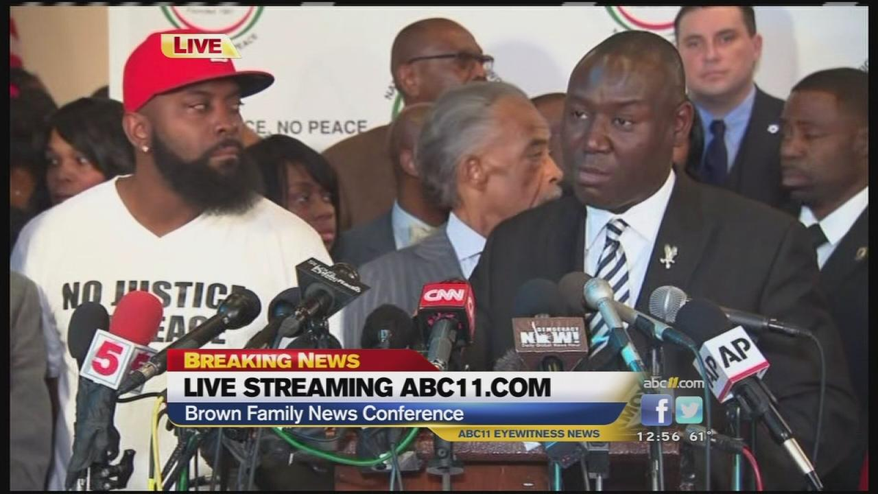 Attorneys for the Brown family and other representatives speak