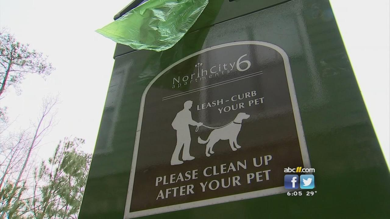 Dog DNA controversy at Raleigh apartment complex, poop clean-up station