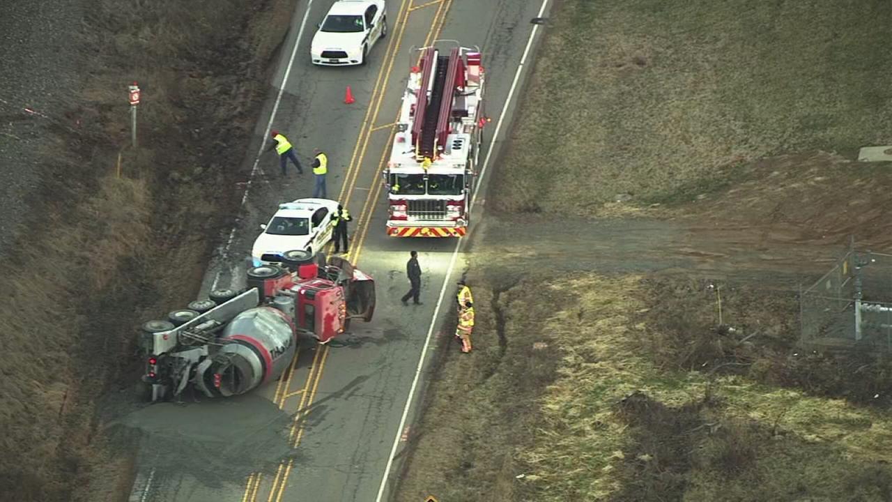 Raw Video: Concrete truck crash