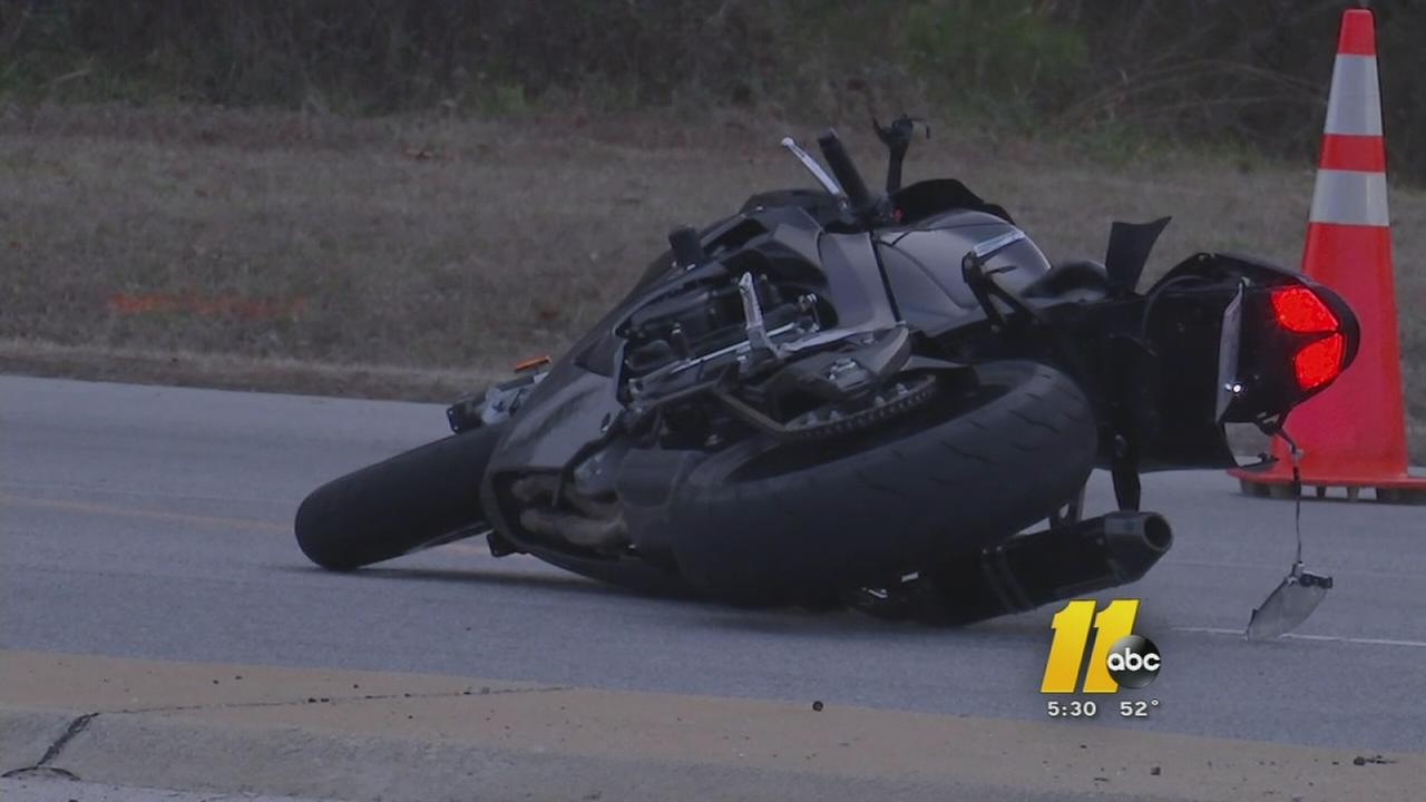 Motorcycle crash on Rock Quarry Road in Raleigh