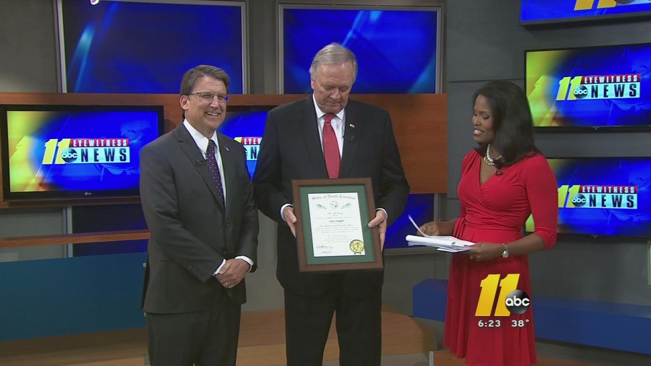 Larry Stogner recieves Order of the Long Leaf Pine