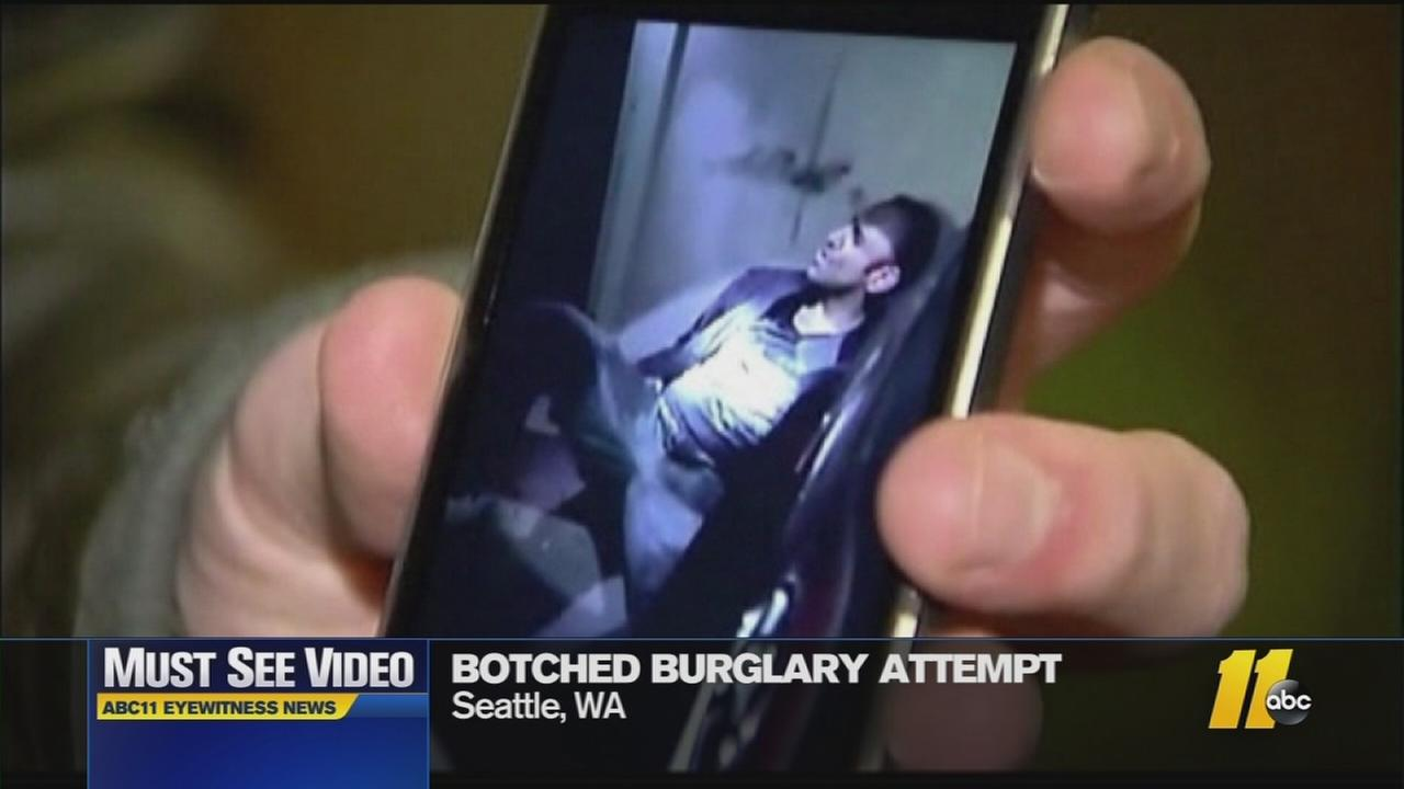 Must-See Videos: Firefighters rescue burglar