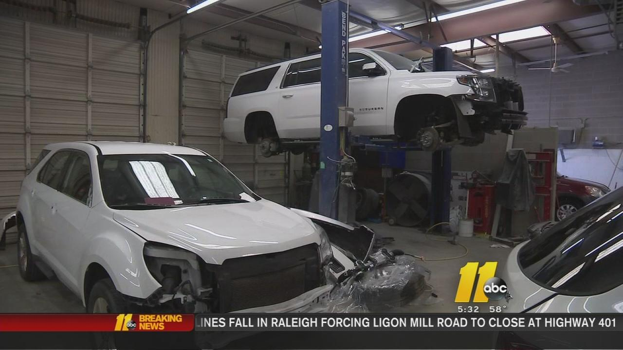Body shops busy after snowfall and wrecks