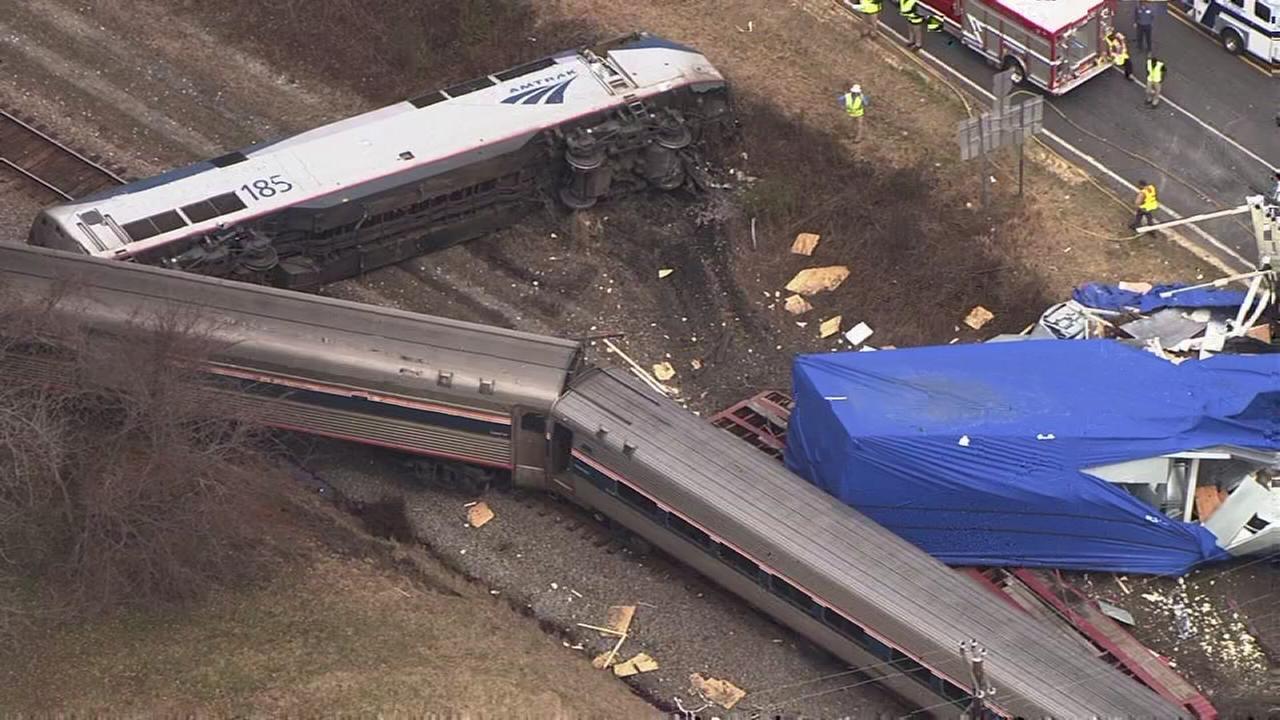 Amtrak train slams into truck in Halifax