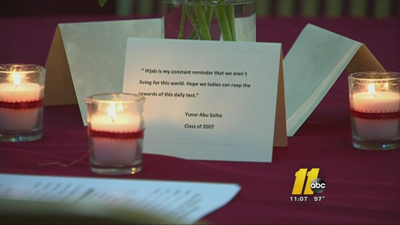 Crowd honors Chapel Hill victims