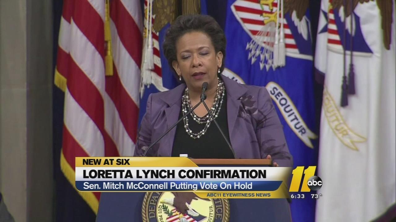 Loretta Lynchs confirmation vote delayed