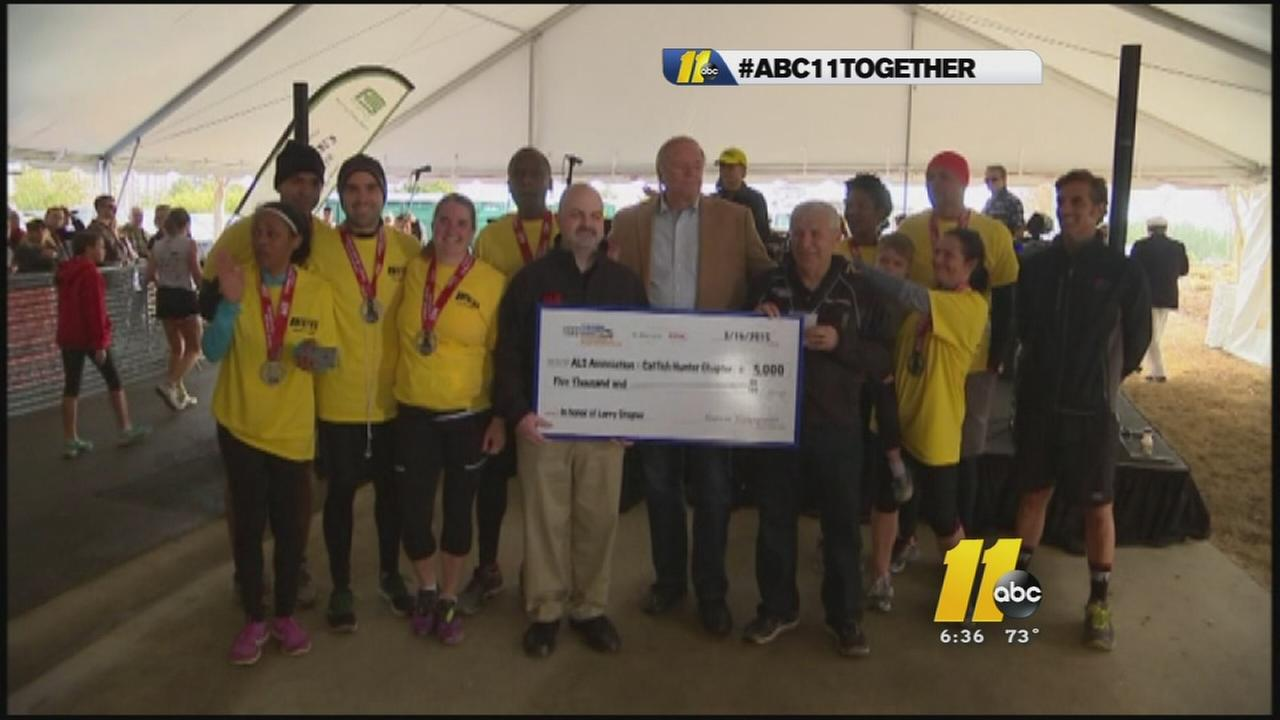 ABC11 Together runs the Tobacco Road marathon
