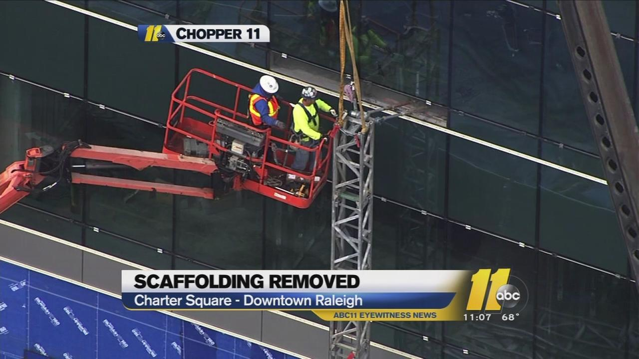 Scaffolding removed from fatal construction site