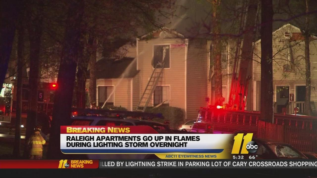 Lightning blamed for destructive apartment fire