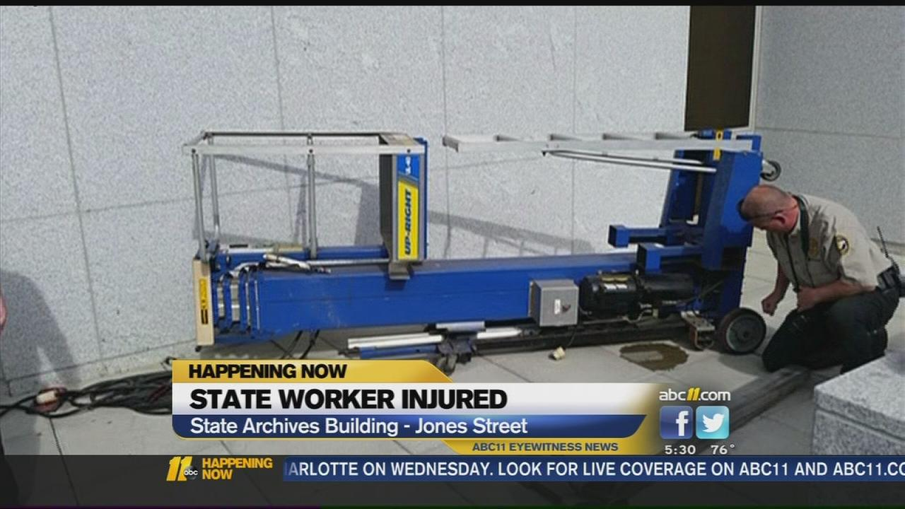Worker hurt in accident at North Carolina archives building