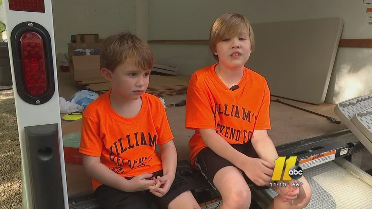 A Raleigh boy known as The Food Drive Kid hopes to help even more Saturday during his latest drive.
