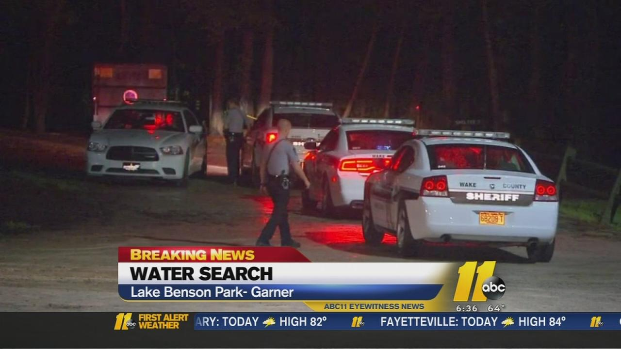 Missing person search Lake Benson Park in Garner