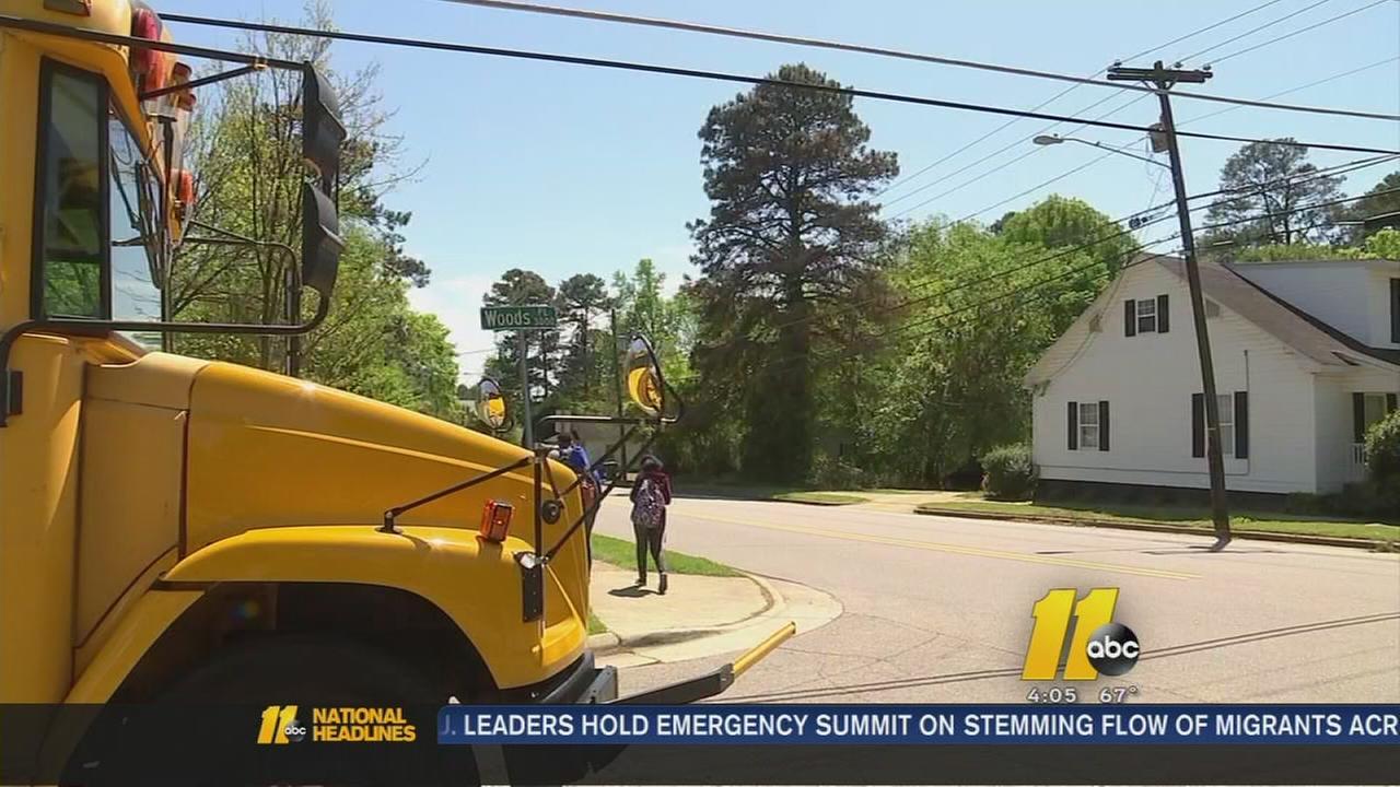 School bus lurker in Raleigh