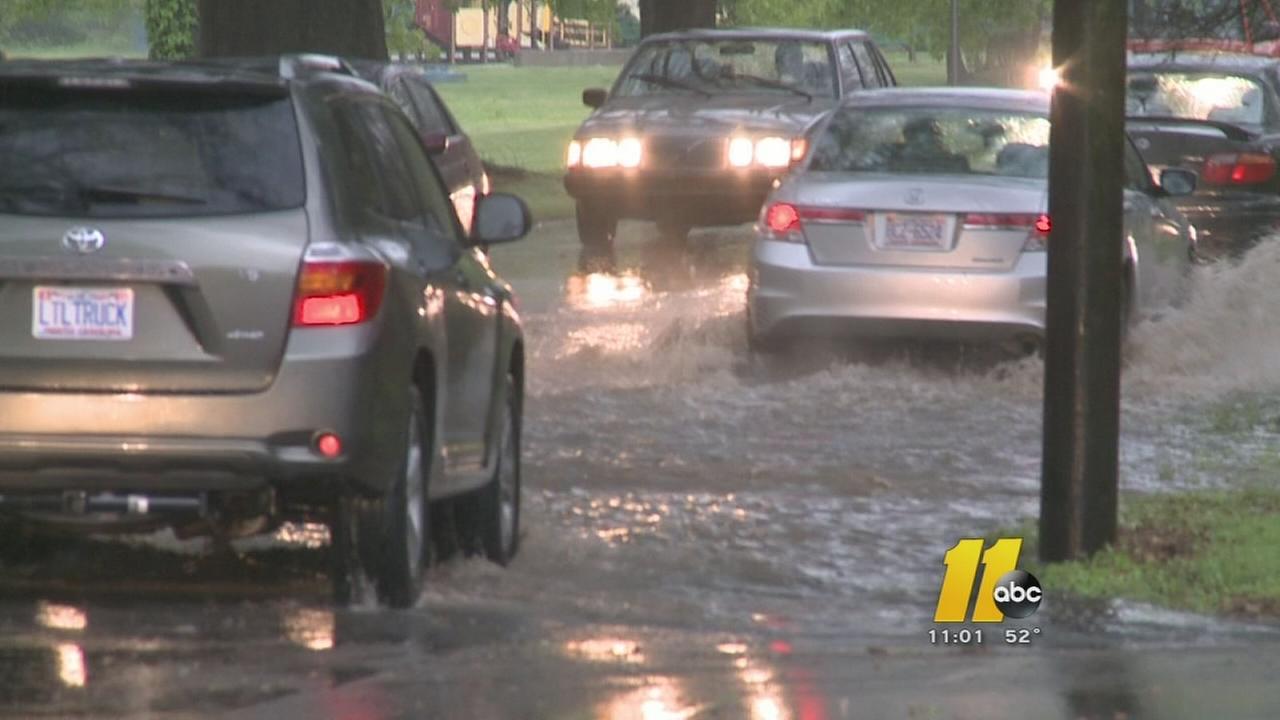 Hail, rain pour down on NC