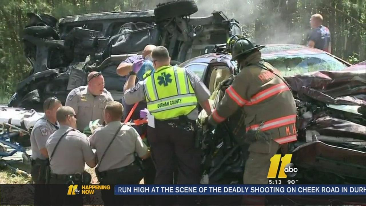 Cars burst into flames after crash in Chatham County