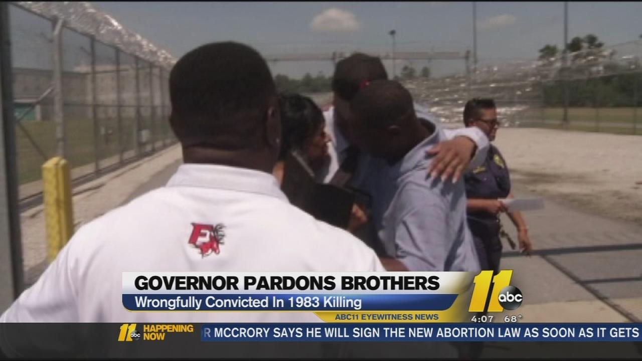 North Carolina brothers pardoned, including one on death row for 3 decades