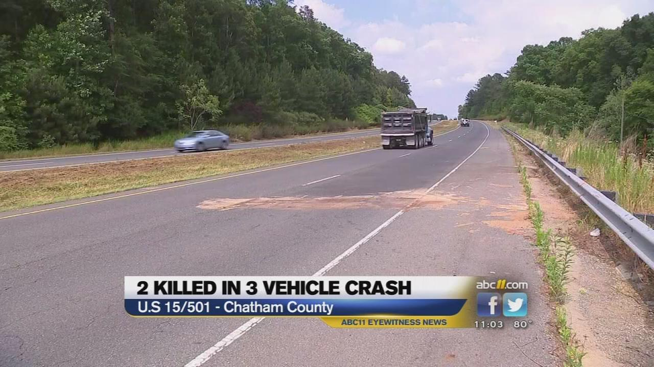 High school student, UNC professor killed in crash on U.S. 15/501 in Chatham County.