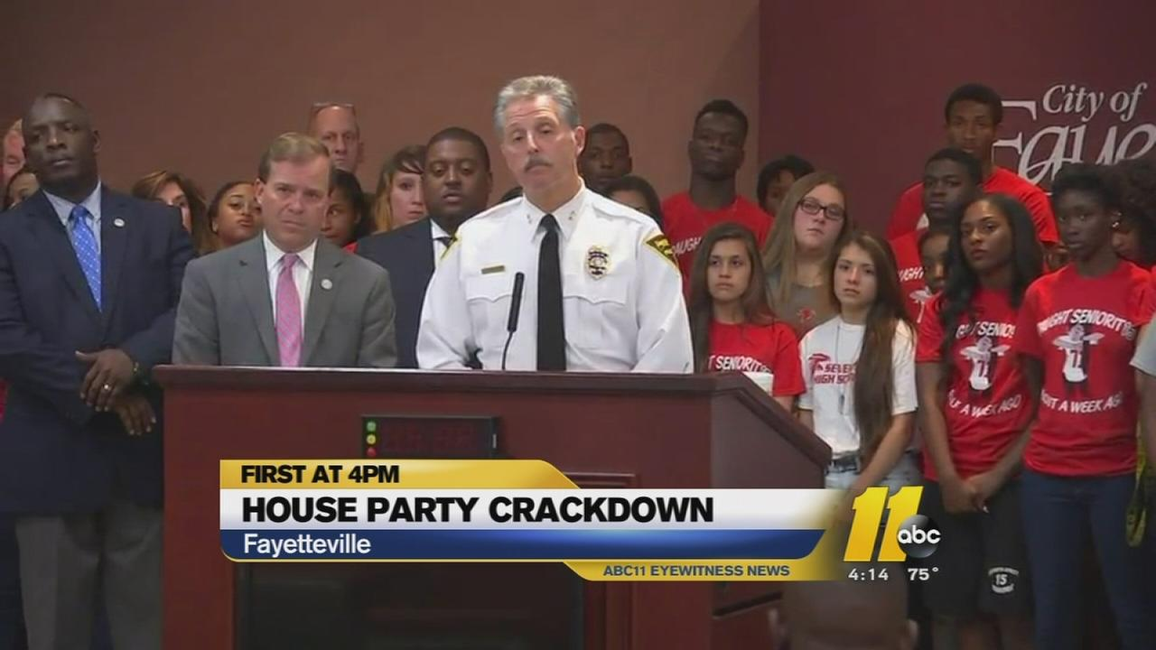 House Party Crackdown news conference