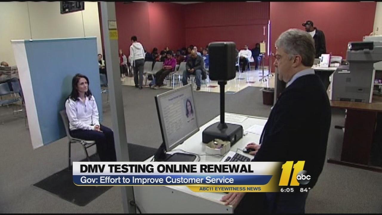 DMV testing online renewals