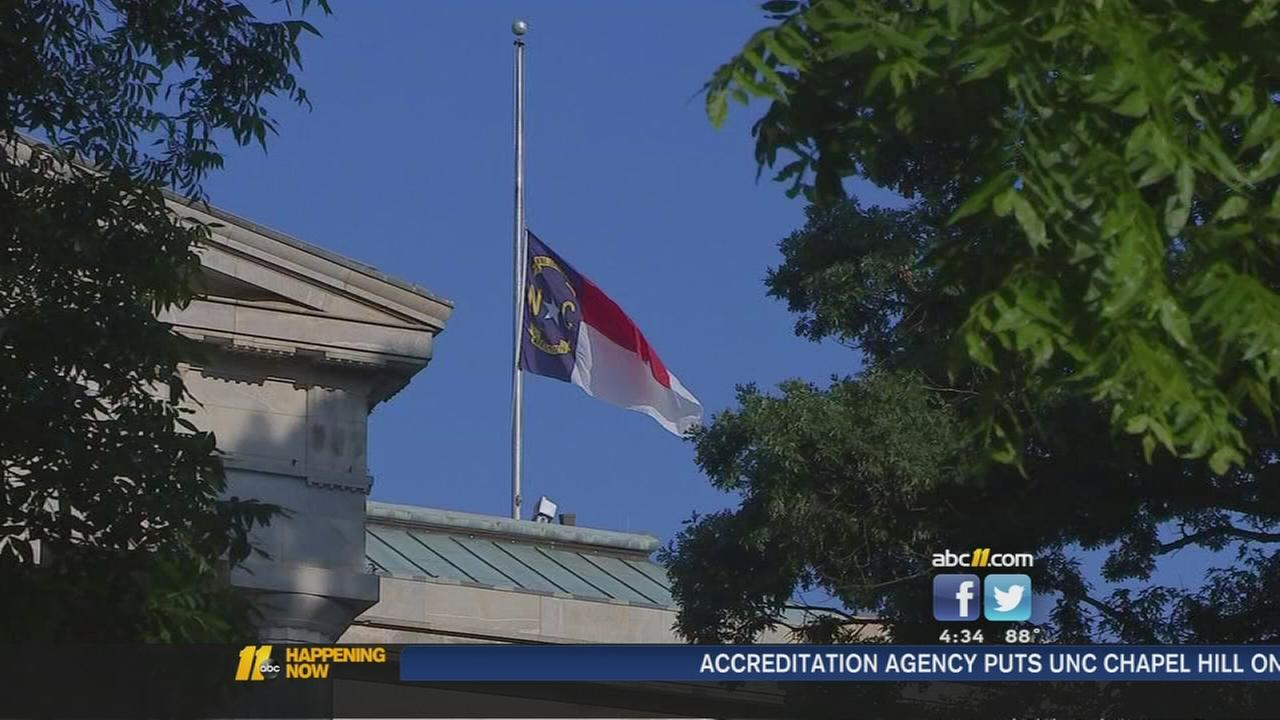 NC flags at half-staff