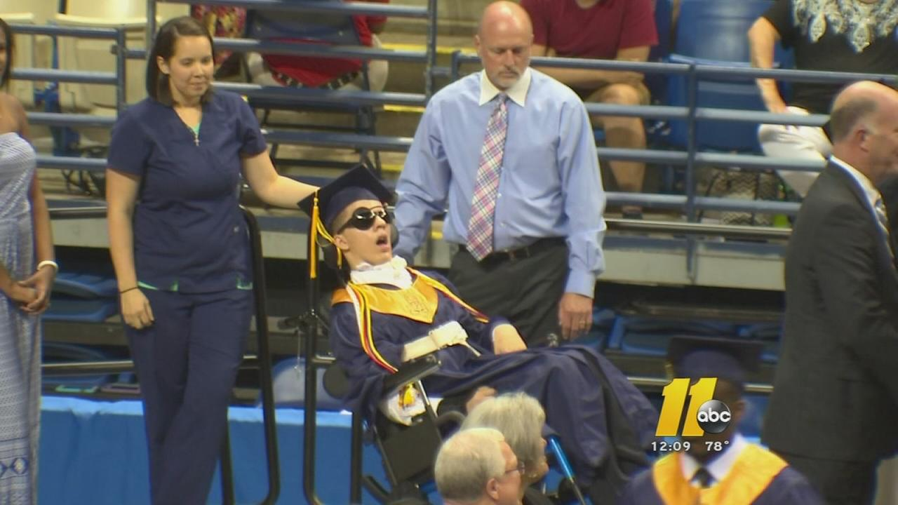 Fayetteville teen shows courage in accepting diploma -- Victor Murray