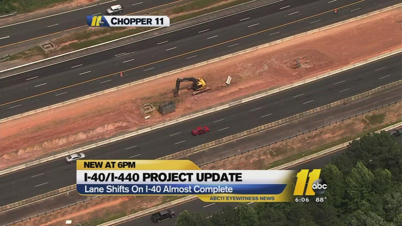 More lane shifting begins on I-40