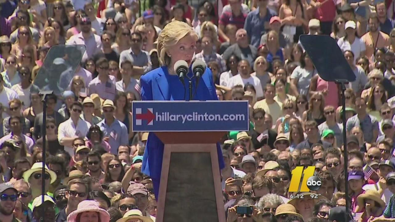 Clinton holds first major rallly