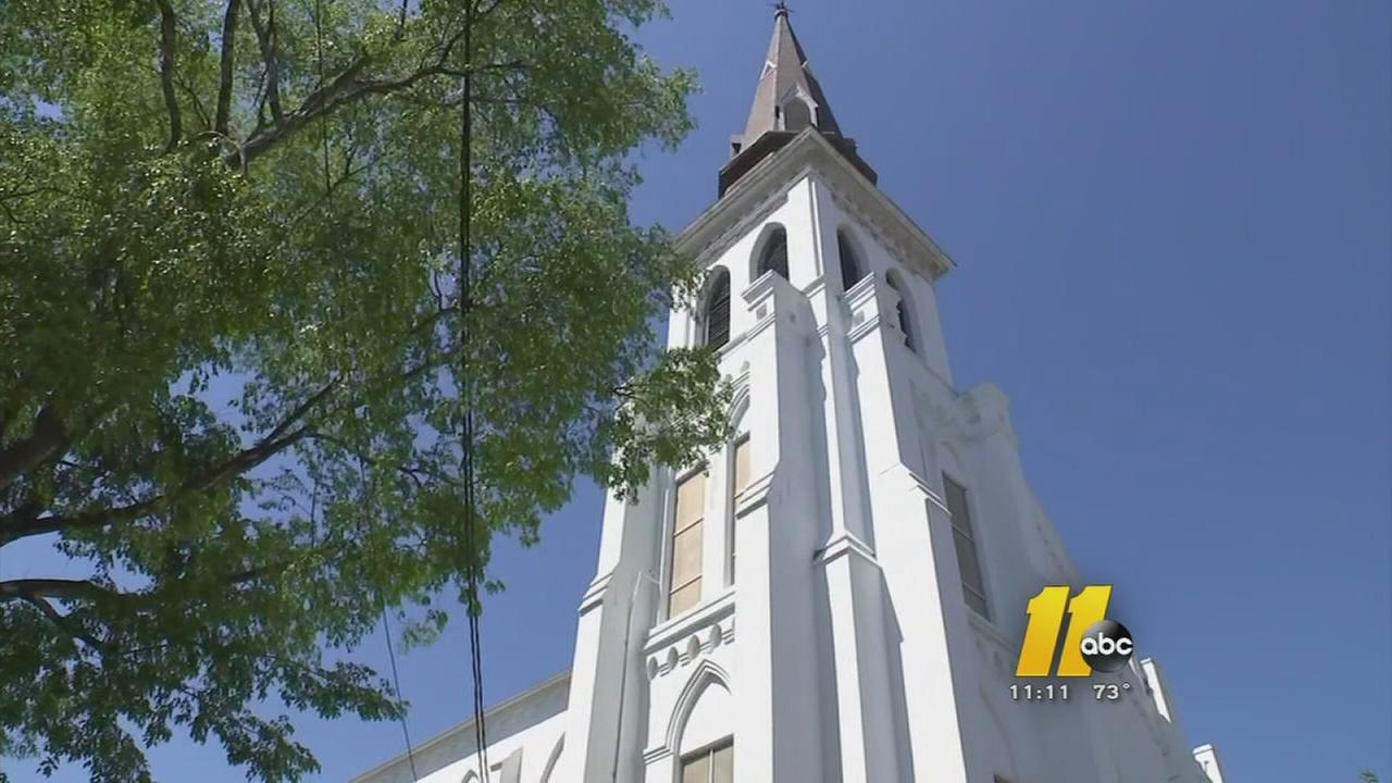 Charleston shooting tragedy touches relatives in Hoke County - church exteriors