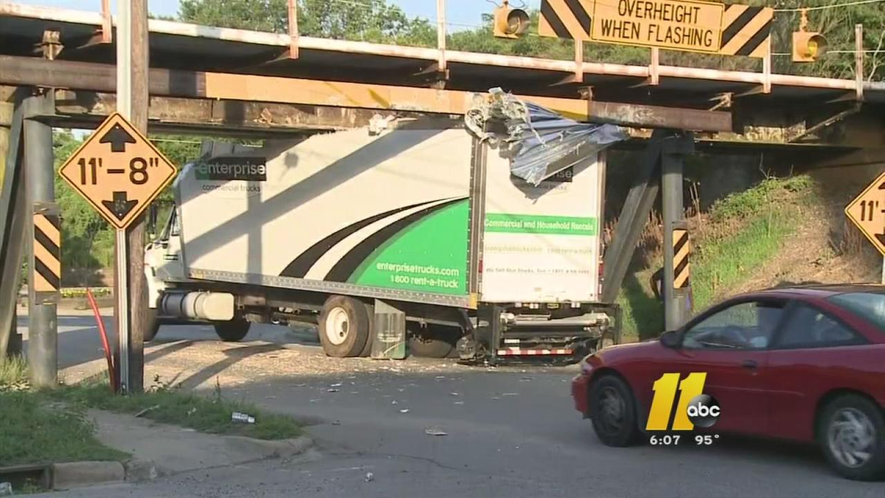Trucks hit same Durham bridge hours apart