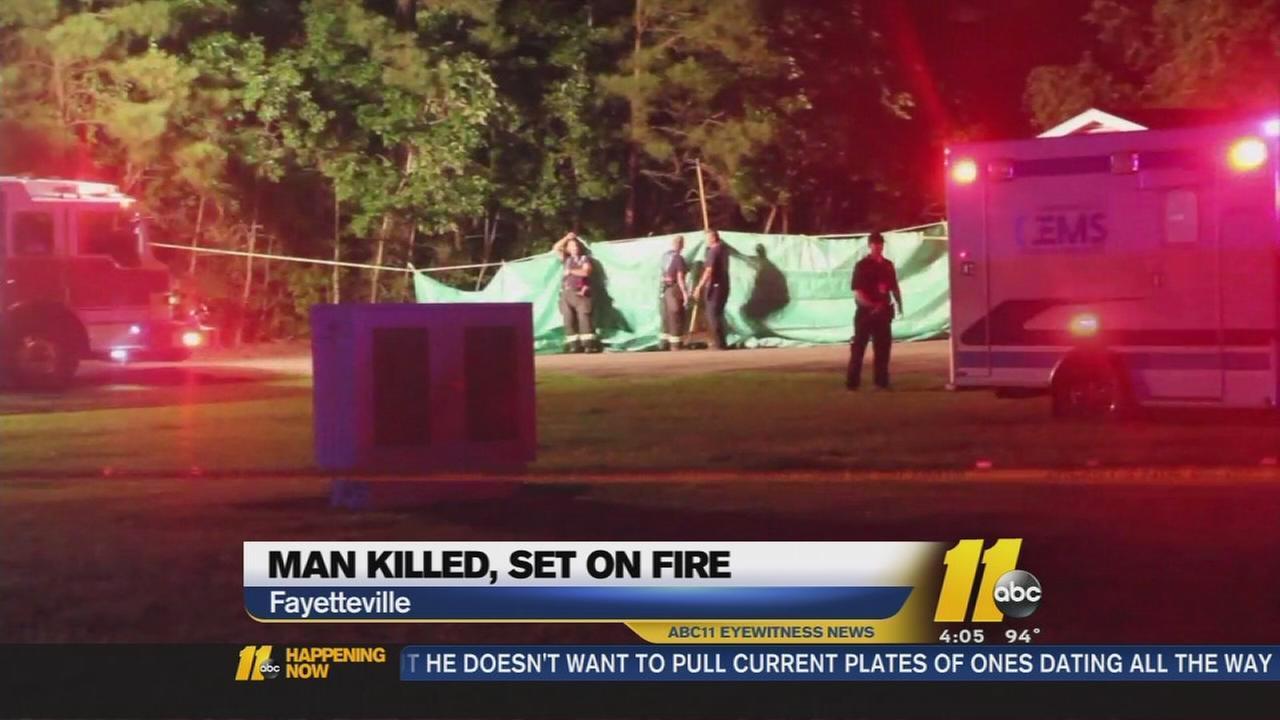 Detectives: Man killed, dumped, set on fire