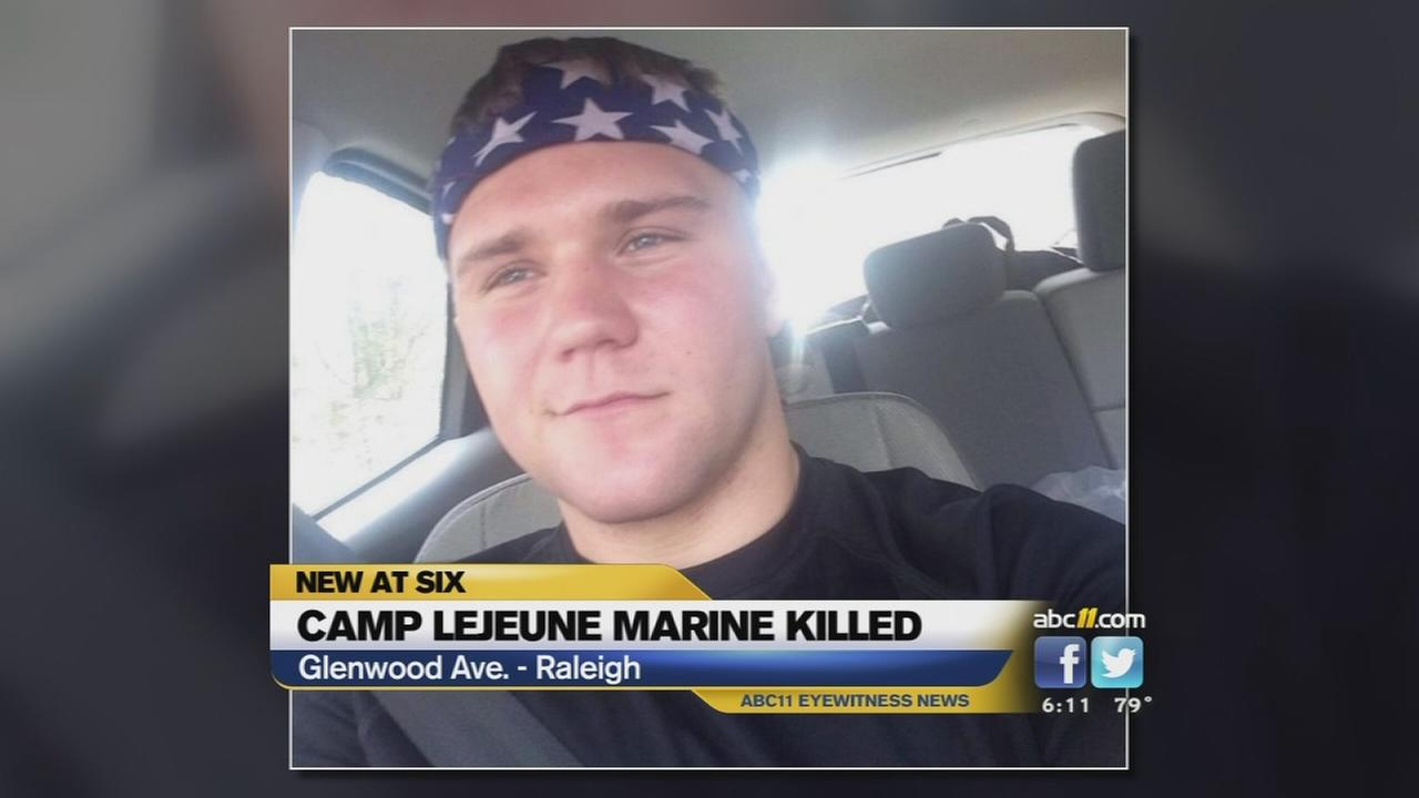 Marine killed in hit and run