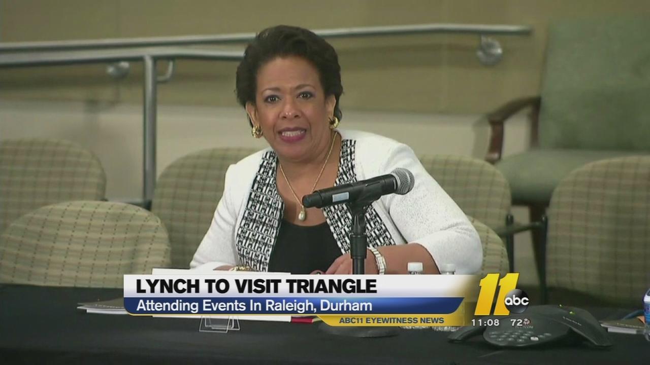 U.S. Attorney General Loretta Lynch to visit Triangle
