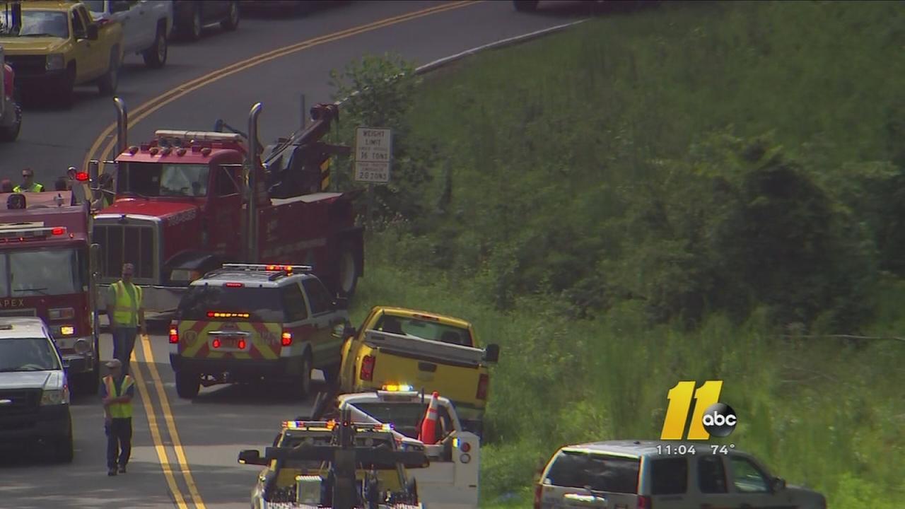 Apex road closed due to UPS crash